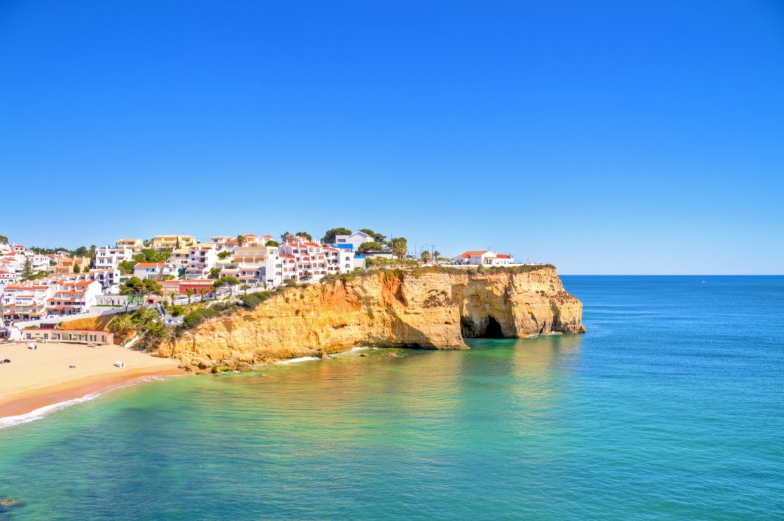 'The village Carvoeiro in the Algarve Portugal' - Algarve